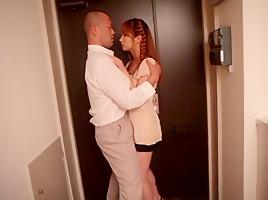 Amazing Japanese slut Tia Bejean in Crazy JAV censored Creampie, Hairy clip