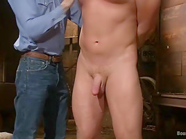 Farmboy punished for jerking off on the job