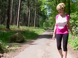 Lady in the forest 3