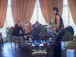 Fabulous pornstar Adrianna Laurenti in horny lingerie, group sex porn video