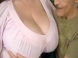 Incredible homemade Big Tits, Brunette sex movie