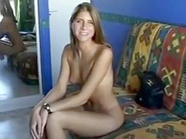Gorgeous college girl in anal casting