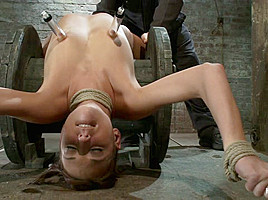 Nipple Torture, Brutal Crotch Rope And Extreme Bondage Girl Next Door Is Abused And Made To Cum - HogTied
