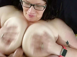 Fucking my bbw huge tit wife