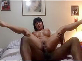 Mature takes bbc in her ass