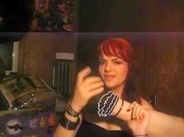 Sexy redhead self foot worship.