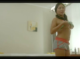Hot Raquel humped by horny Tommy in massage porn movie