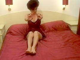 Mature bitch bonked from behind by a big hard penis